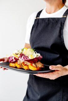 Tabel Catering Caramelised pumpkin, walnut skordalia, fennel salad, feta