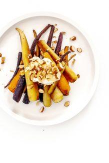 Tabel Catering Caramelised carrots, smoked yoghurt, almonds, honey
